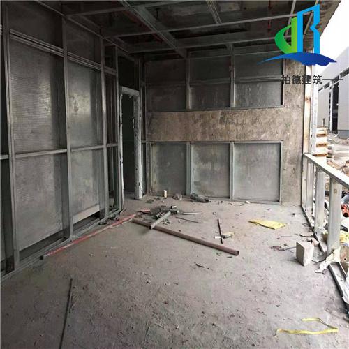 双层钢板加纤维防爆墙